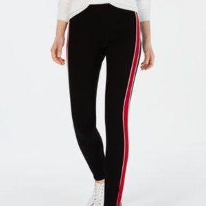 Tommy Hilfiger Womens Racing-Stripe Stirrup Pants
